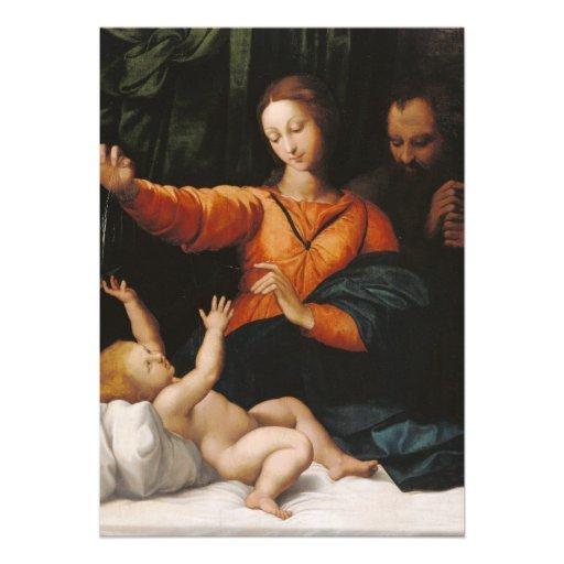 Mother Mary baby Jesus Custom Invitations