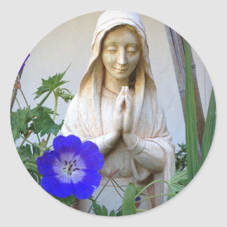 Mother Mary Blessing Round Sticker