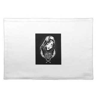 Mother Mary Chicano Art Placemat