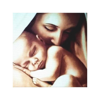 Mother Mary Child Jesus Baby Boy Girl Canvas Print