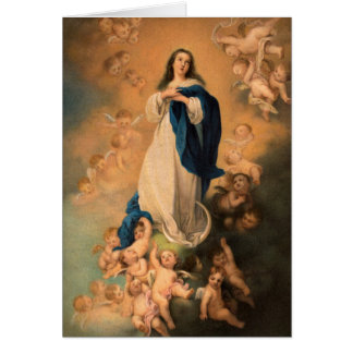 Mother Mary Christmas Card