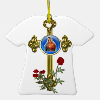Mother Mary Cross Christmas Tree Ornaments
