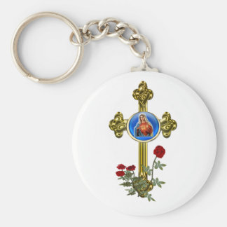 Mother Mary Cross Key Chains