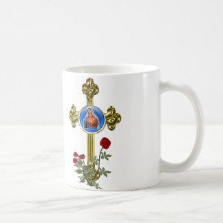 Mother Mary Cross Mugs
