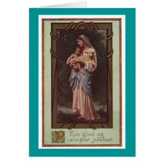 Mother Mary Holding The Christ Child Holiday Card