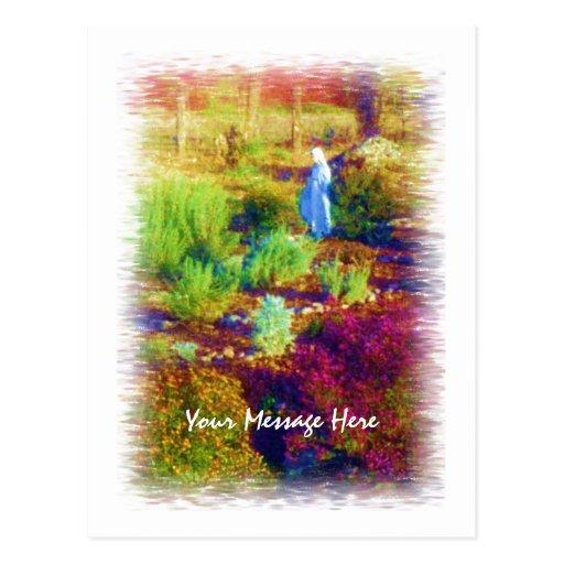 Mother Mary's Garden postcard template