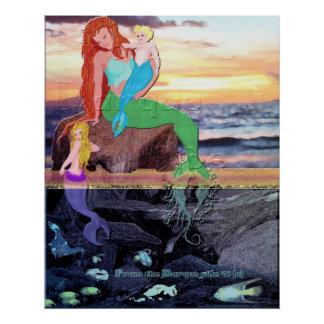 Mother Mermaid Poster