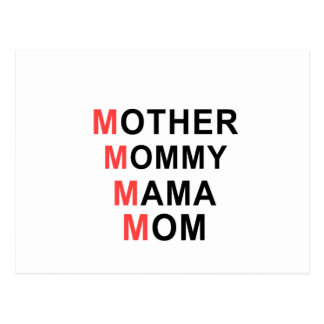 Mother, Mommy, Mama, Mom Postcard