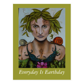 Mother Nature-Everyday Is Earthday Postcard