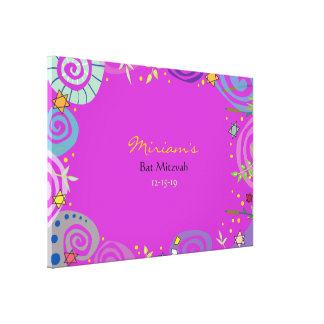 MOTHER NATURE SWIRL Bat Mitzvah Sign In Board