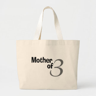 Mother Of 3 Jumbo Tote Bag