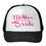 Mother of Bride Hot Pink On White Trucker Hat