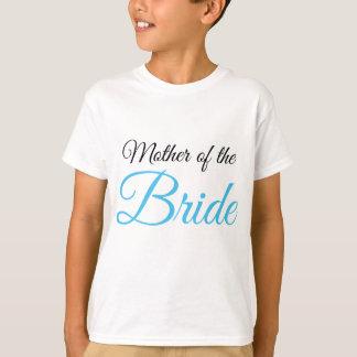 Mother of Bride Script Blue T-Shirt