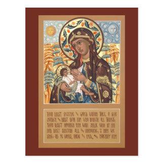 Mother of God the Milk-Giver Prayer Card Postcard