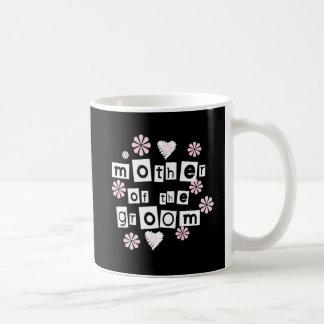 Mother of Groom White on Black Coffee Mug