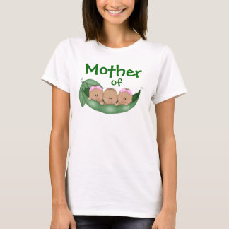Mother of Mixed Triplets with Dark Skin T-Shirt