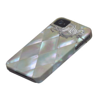mother of pearl dragon Case-Mate iPhone 4 cases