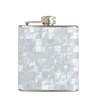 Mother Of Pearl Mosaic Hip Flask