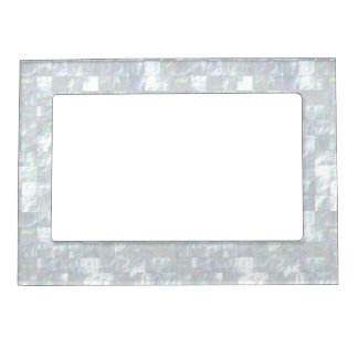 Mother Of Pearl Mosaic Photo Frame Magnet