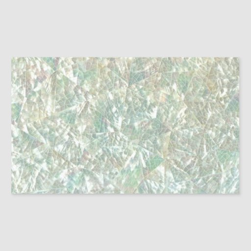 Mother of Pearl Opal Crackle Mirror Iridescent Rectangle Stickers