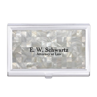 Mother of Pearl Pattern Personalize Business Card Holder