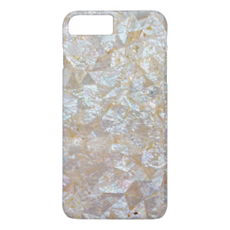 Mother Of Pearl Pink White Triangle Tiled iPhone 7 Plus Case