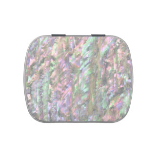 MOTHER OF PEARL PRINT Pink Jelly Belly Tins