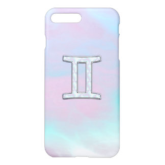 Mother of Pearl Style Gemini Zodiac Sign iPhone 7 Plus Case