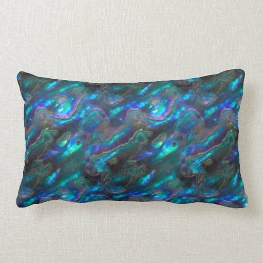Mother Of Pearl Texture Blue Photo Pattern Throw Pillows