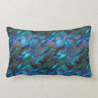 Mother Of Pearl Texture Blue Photo Pattern Lumbar Pillow