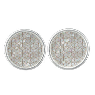 Mother Of Pearl Tiles Cuff Links