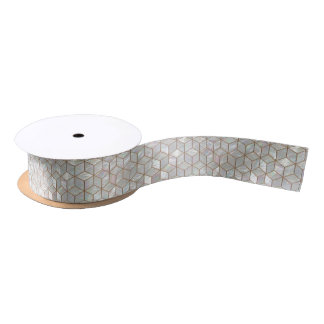 Mother Of Pearl Tiles Satin Ribbon