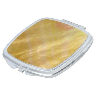 Mother of pearl tones gold vanity mirror