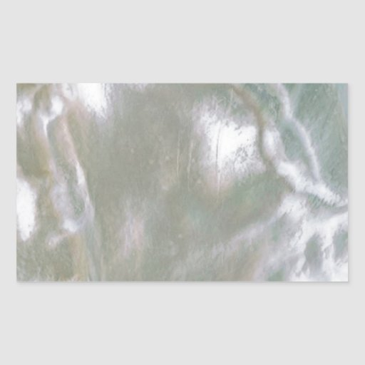 Mother of Pearl-White Rectangular Sticker