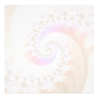 Mother of Pearls Luxurious Fractal Spiral Art Photo