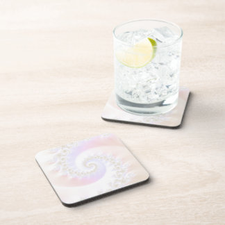 Mother of Pearls Luxurious Fractal Spiral Beverage Coasters
