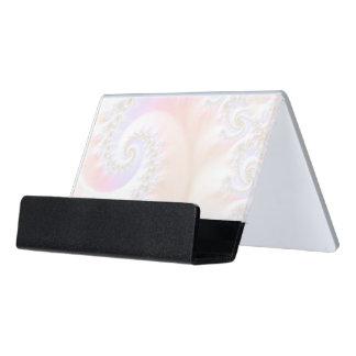 Mother of Pearls Luxurious Fractal Spiral Desk Business Card Holder