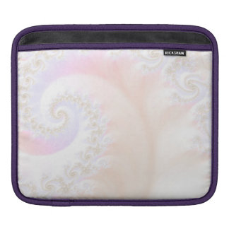 Mother of Pearls Luxurious Fractal Spiral iPad Sleeve