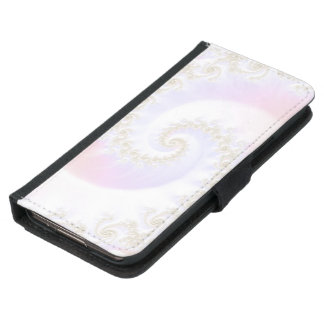 Mother of Pearls Luxurious Fractal Spiral Samsung Galaxy S5 Wallet Case