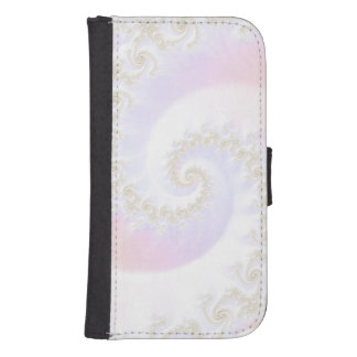 Mother of Pearls Luxurious Fractal Spiral Samsung S4 Wallet Case