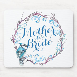 Mother of the Bride Blue Bird Wedding Mousepad