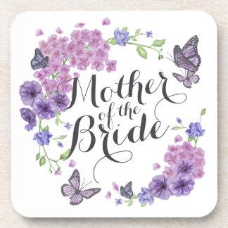 Mother of the Bride Butterflies Wedding   Coaster