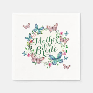 Mother of the Bride Butterfly Wrea Sketch | Napkin Paper Napkin