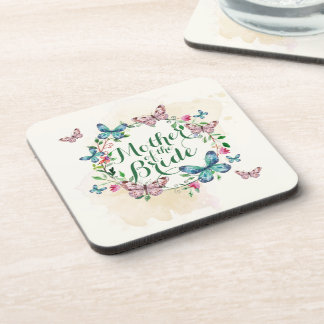 Mother of the Bride Butterfly Wreath   Coaster