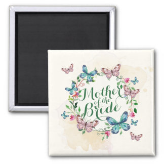 Mother of the Bride Butterfly Wreath | Magnet
