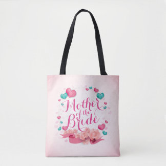 Mother of the Bride Candy Hearts Tote Bag