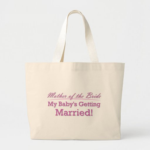 Mother of the Bride Canvas Bag
