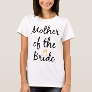 Mother of the Bride Champagne Bling Tee Shirt
