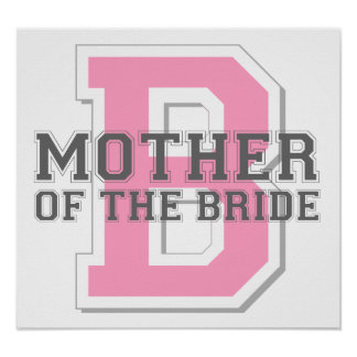 Mother of the Bride Cheer Poster