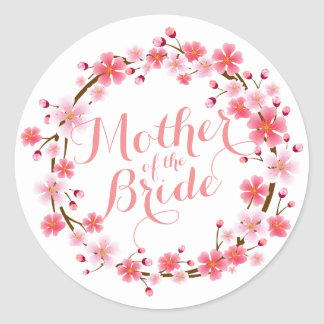 Mother of the Bride Cherry Blossom Wedding Sticker